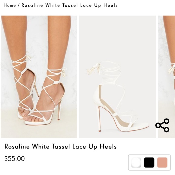 c908b7c450b Brand new white strappy heels